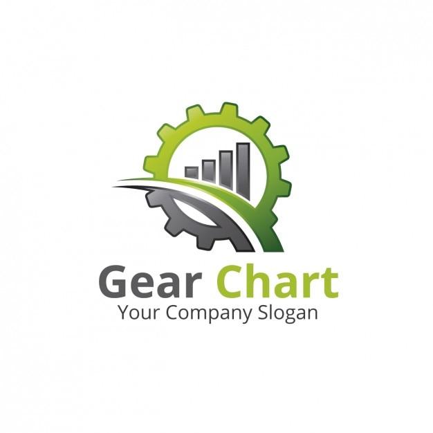 Gear chart logo Free Vector