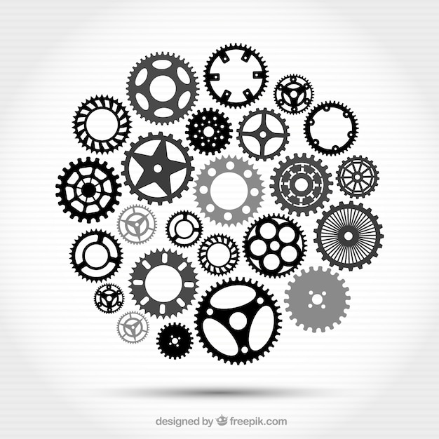 Gear icons collection Free Vector