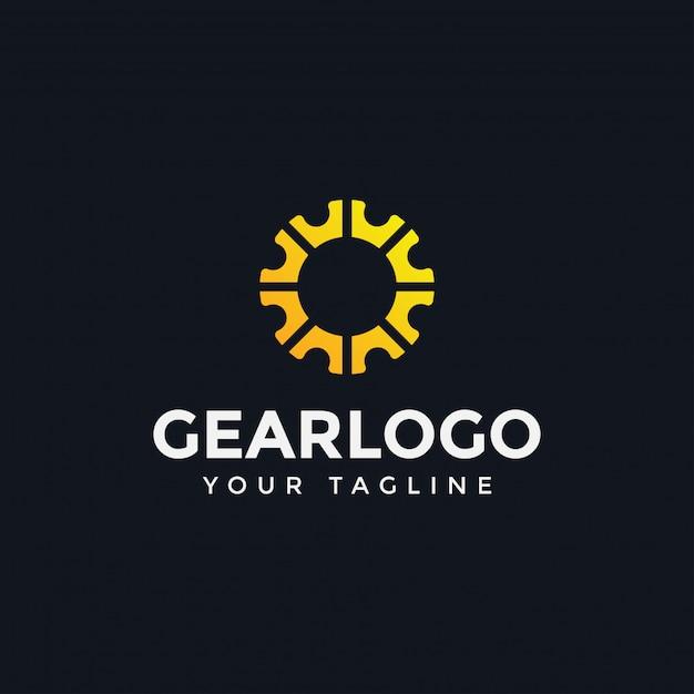 Gear logo template Premium Vector