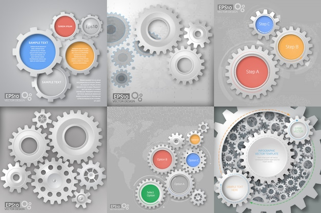 Gear relationship for business concepts. Premium Vector