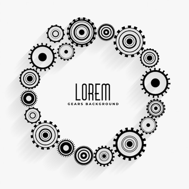 Gears frame background with text space Free Vector