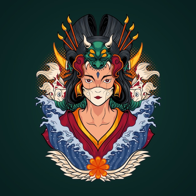 Geisha Premium Vector