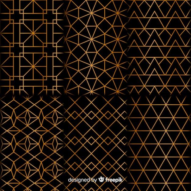 Коллекция геометрических фигур класса люкс Бесплатные векторы