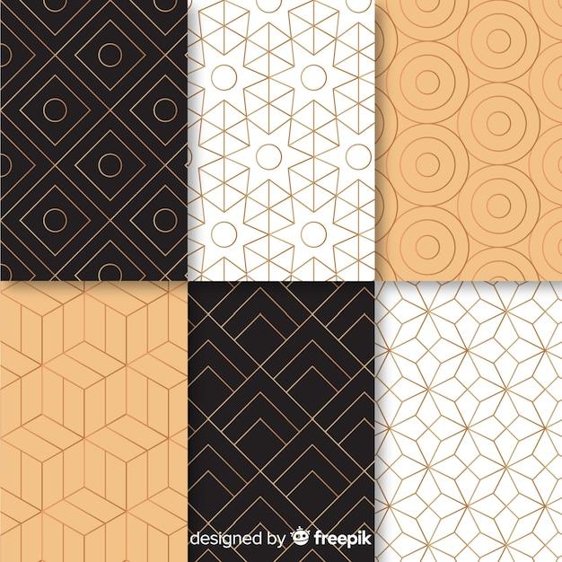 Gemotric luxuryコレクションのパターン 無料ベクター