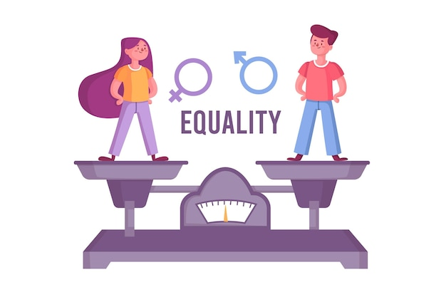 Gender equality concept Premium Vector
