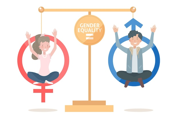 Gender equality concept Free Vector