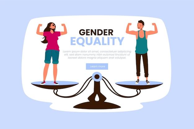Gender equality concept Premium Vector