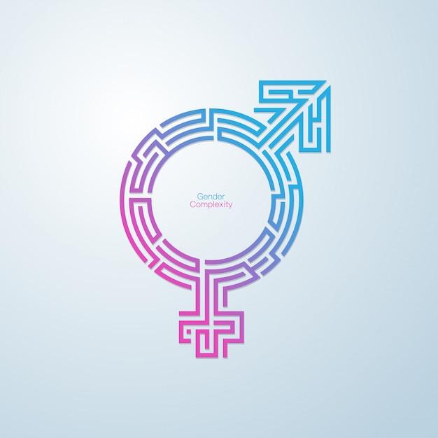 Gender maze Premium Vector