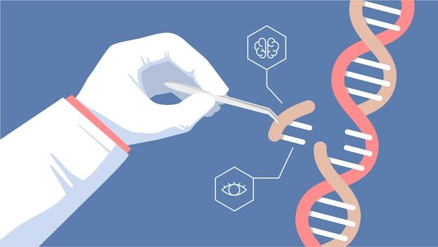 Gene editing tool illustration Premium Vector