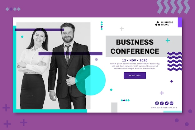 General business banner concept Free Vector