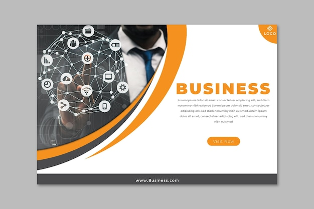 General business banner Free Vector
