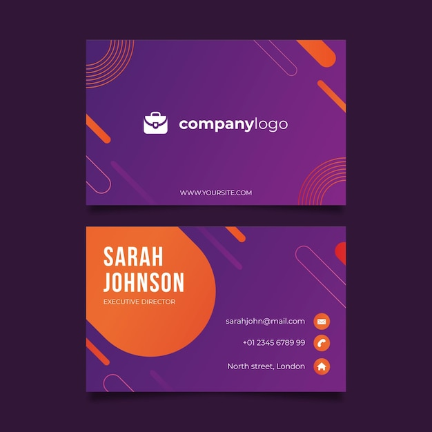 General business card template Free Vector
