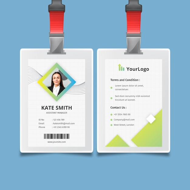 General business id card corporate template Free Vector
