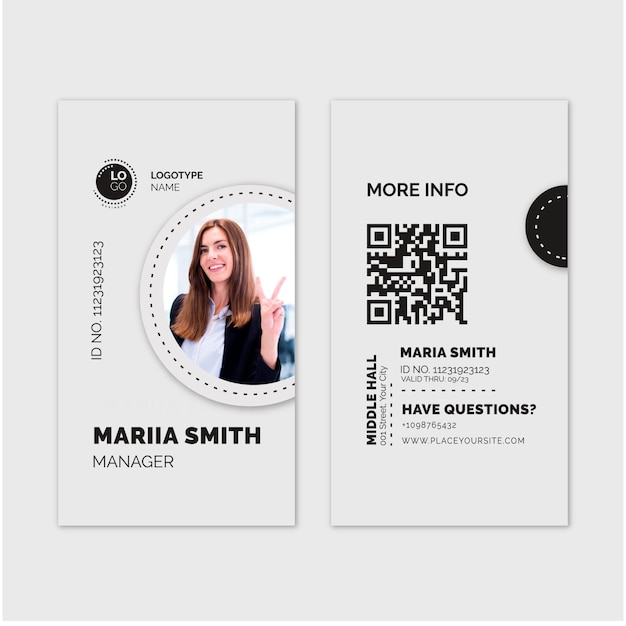 Общий шаблон визитной карточки Бесплатные векторы