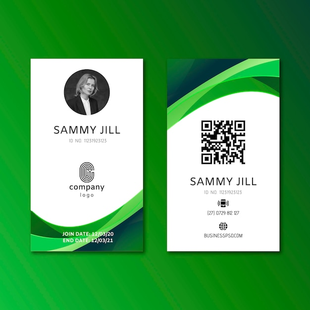 General business id card template Premium Vector