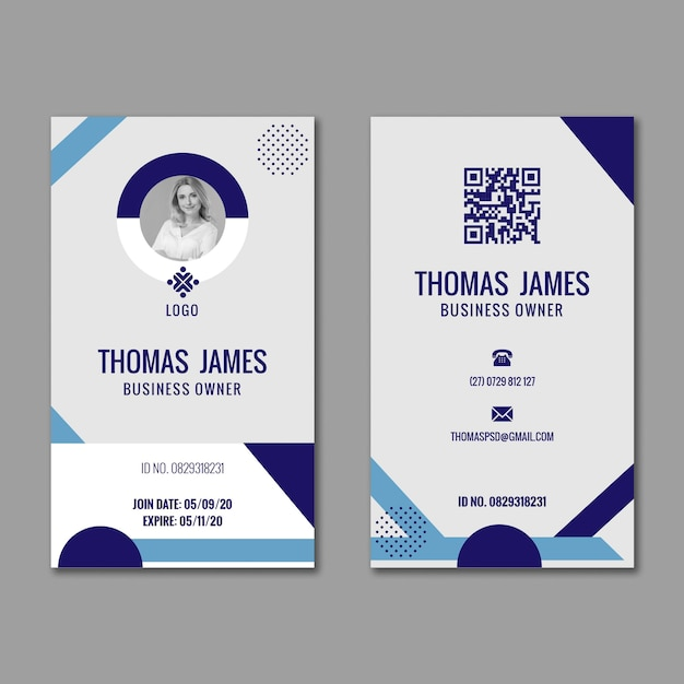 General business id card Free Vector