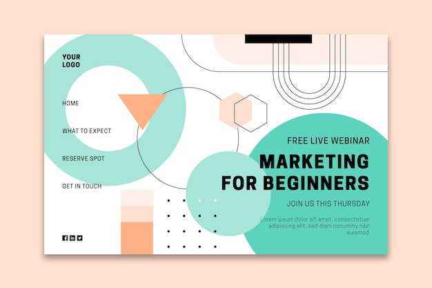General business landing page Free Vector