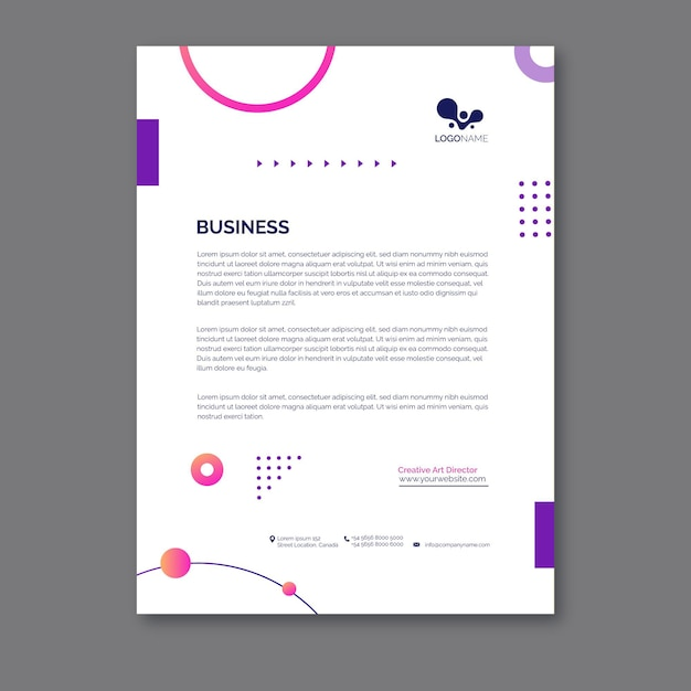 General business letterhead template Free Vector