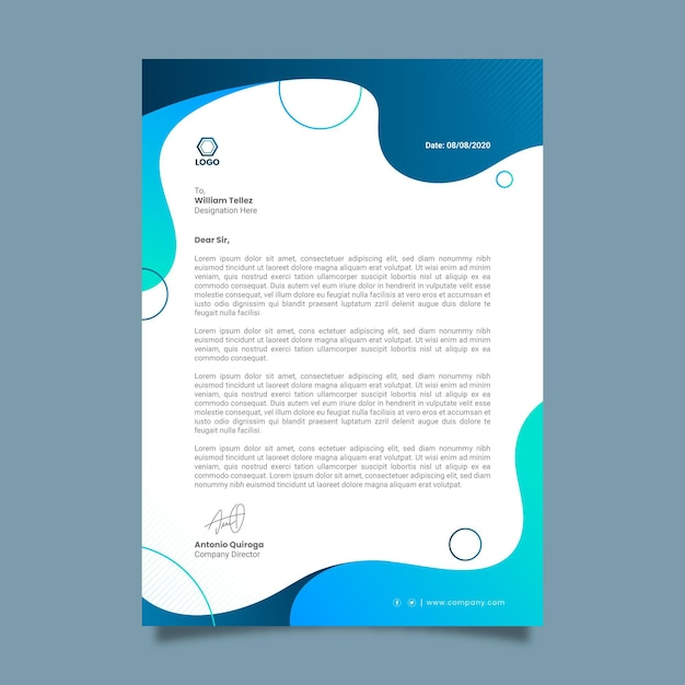 General business letterhead Premium Vector