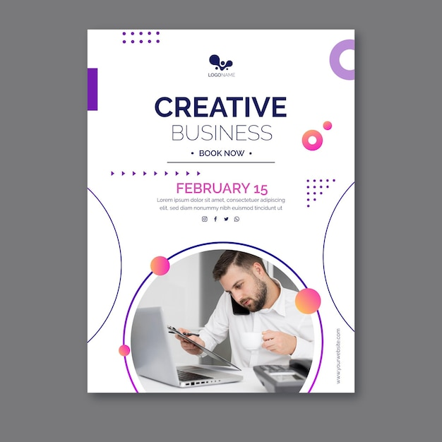 General business poster template Free Vector