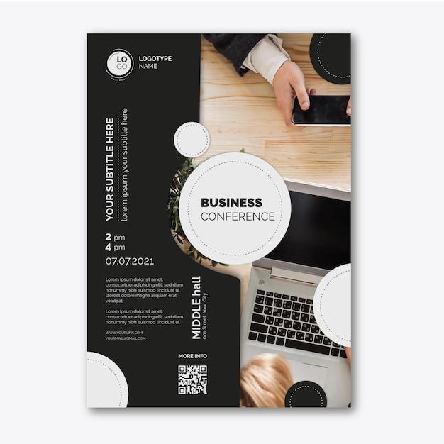 Общий деловой плакат Premium векторы