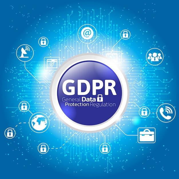 General data protection regulation concept. Premium Vector
