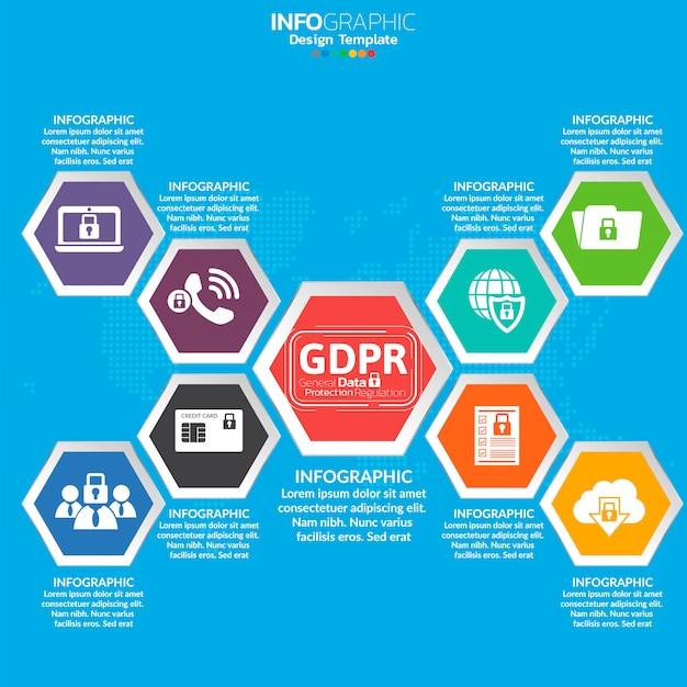 General data protection regulation (gdpr) concept. Premium Vector