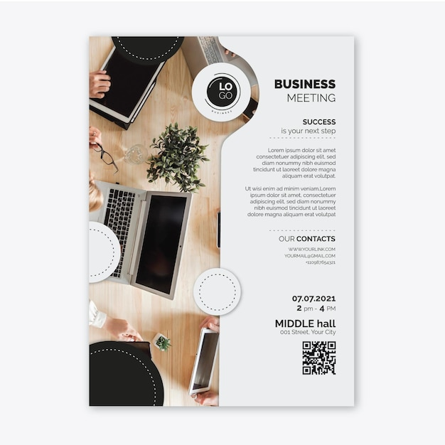 General vertical business flyer template Free Vector