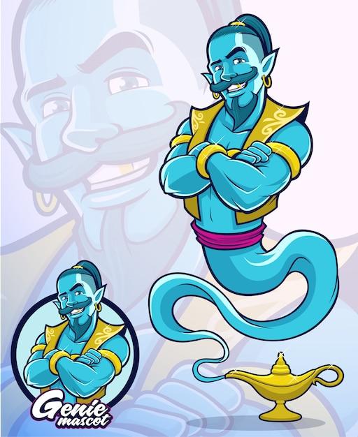 イラスト要素または会社のマスコットの魔神キャラクター Premiumベクター