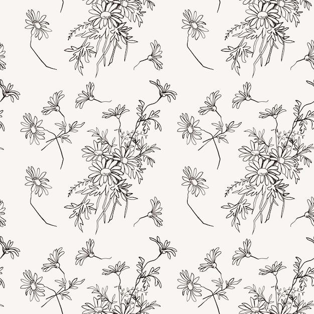 Gentle floral pattern Premium Vector