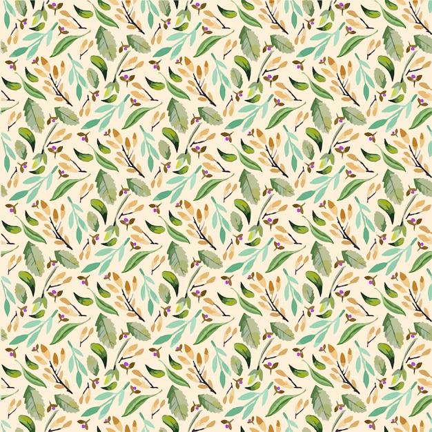 Gentle spring floral raster pattern Premium Vector