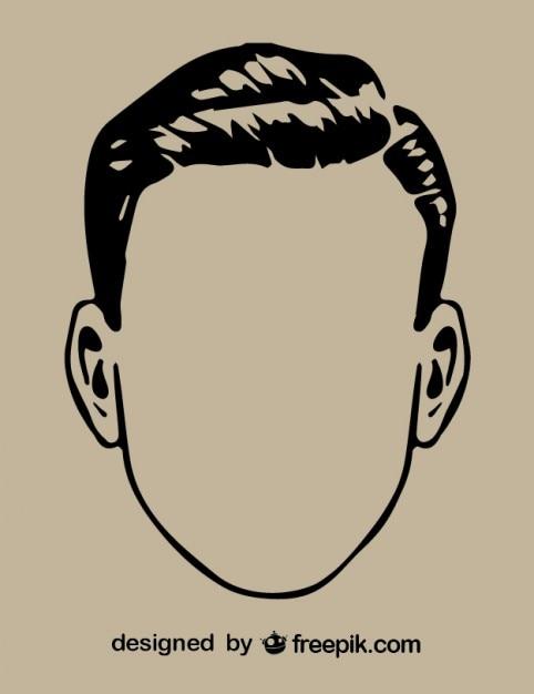 Gentleman Head Outline Drawing Vector | Free Download