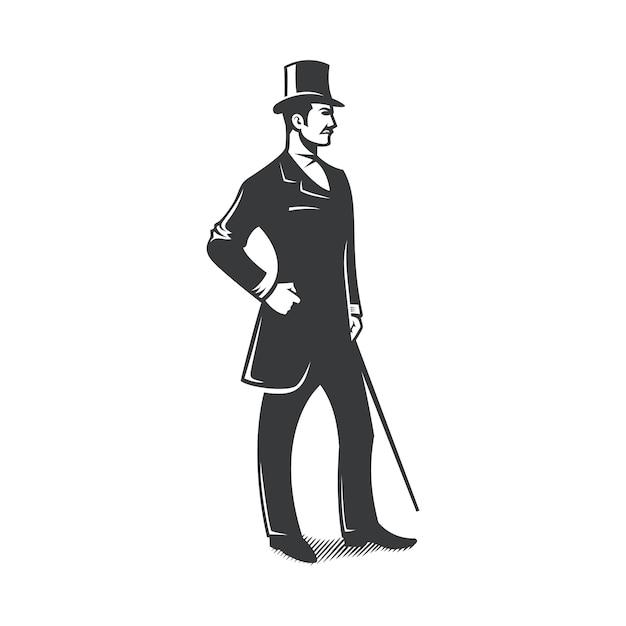 Gentleman vintage design Premium Vector