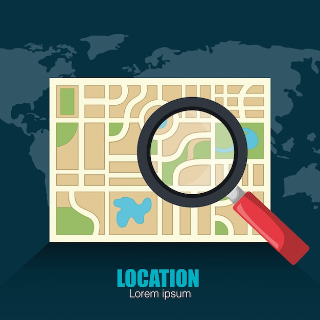 Geographic location system Free Vector
