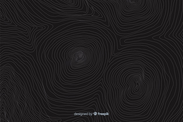 Geographic topography lines background Free Vector