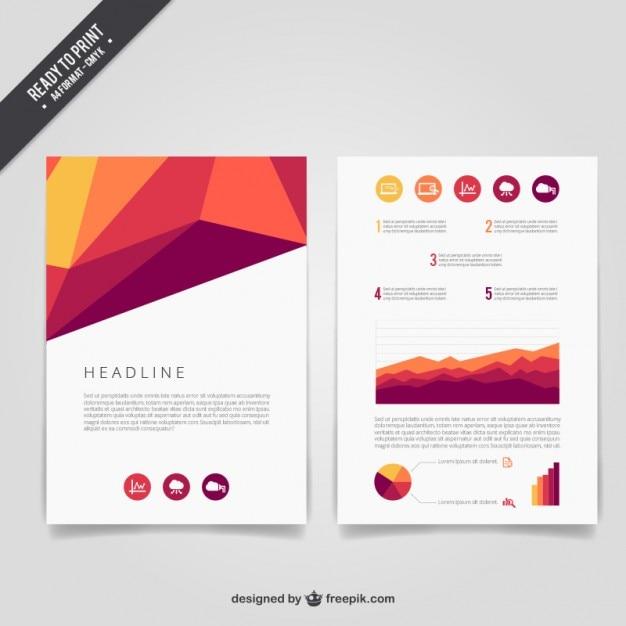 Abstract Brochure: Geometric Abstract Brochure Vector