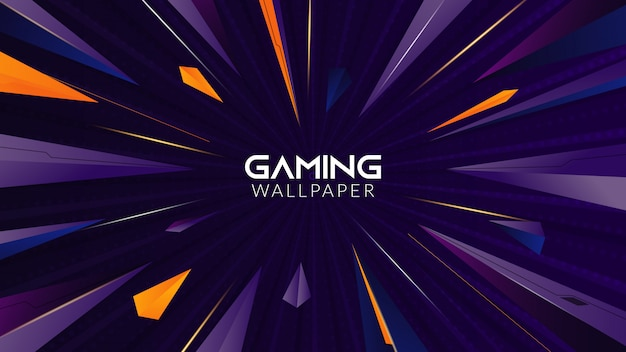 Geometric abstract gaming background Premium Vector