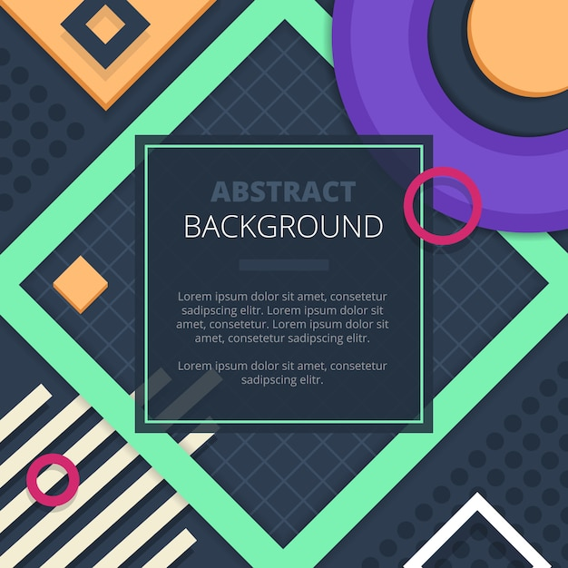 Geometric abstract graphic design in fresh green purple yellow for cover title notice board background Free Vector