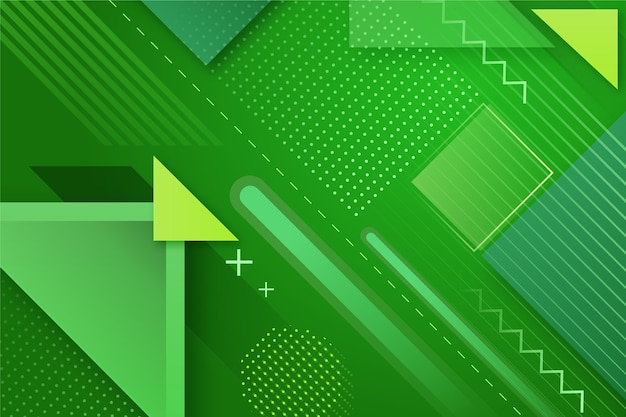 Geometric abstract green background Free Vector