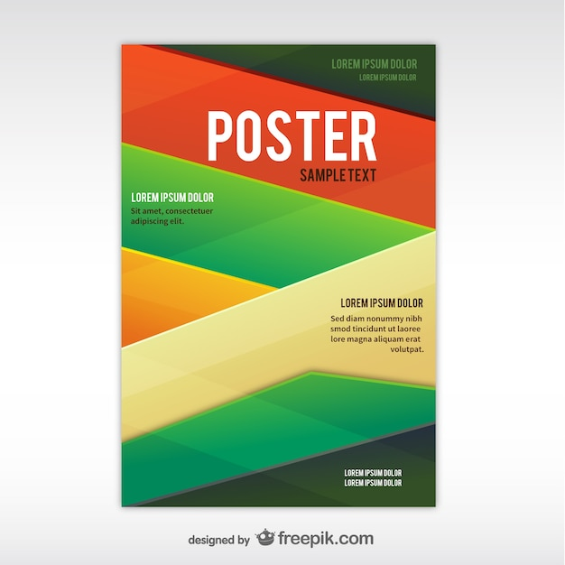 geometric abstract poster template free vector - Free Poster Templates
