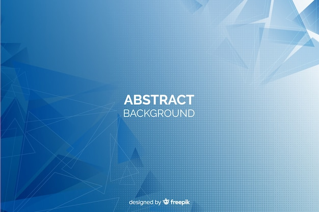 Geometric abstract shapes background Free Vector