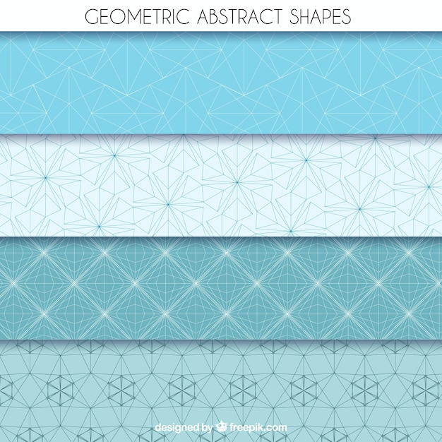 Geometric abstract shapes Free Vector