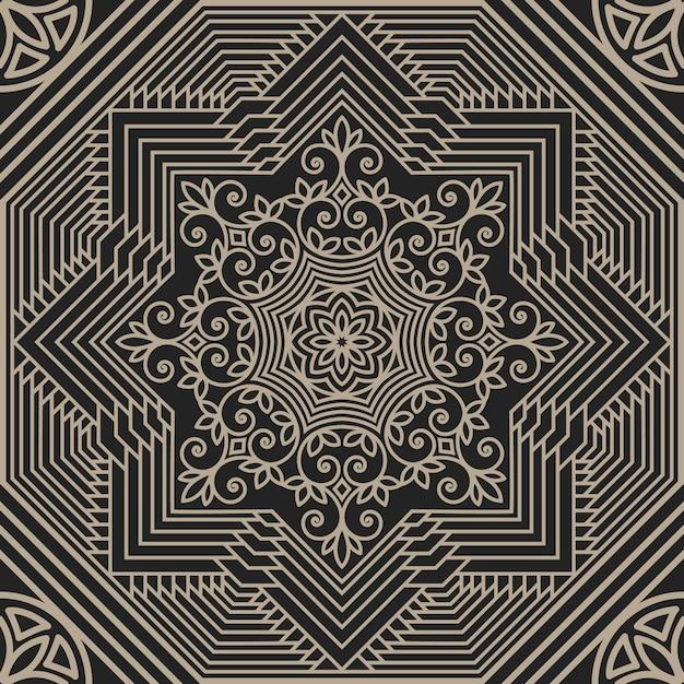 Геометрическая и цветочная абстрактная иллюстрация Бесплатные векторы