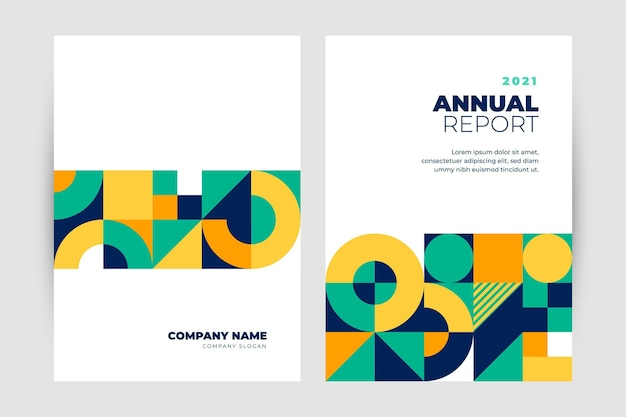 Rapporto annuale geometrico Vettore gratuito