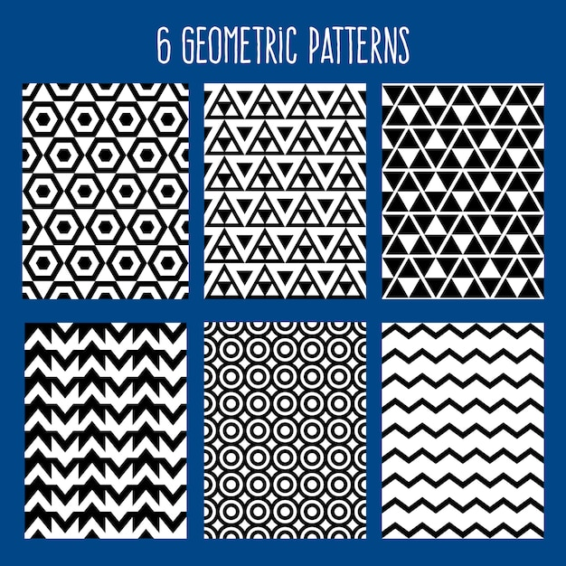 Geometric background abstract seamless pattern Premium Vector