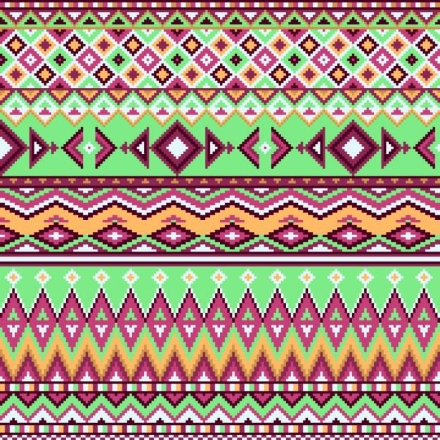 Geometric background, aztec pattern Free Vector