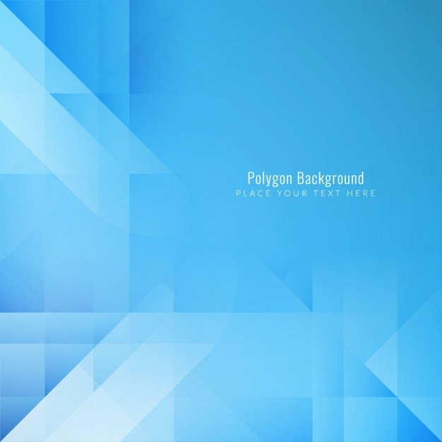Geometric background, blue polygonal shapes Free Vector