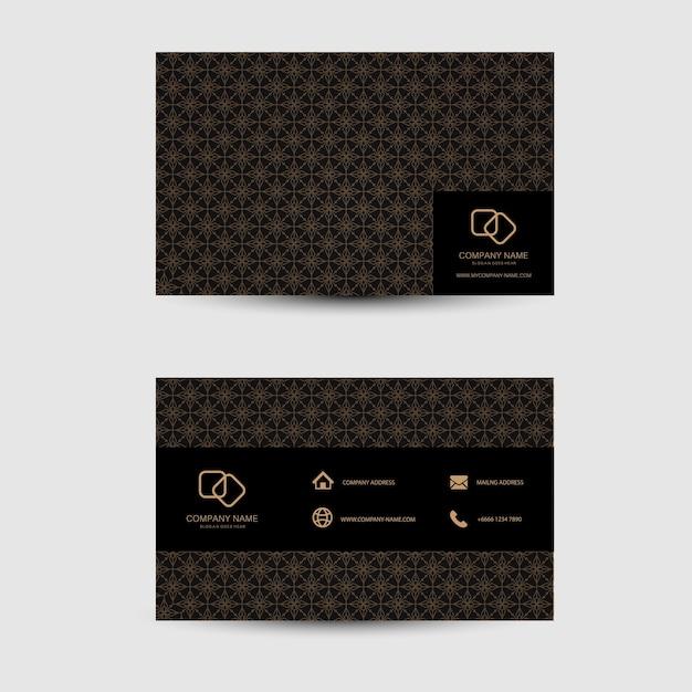 Geometric background business card template Premium Vector