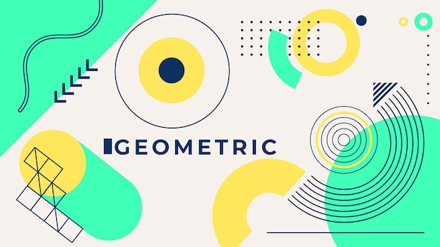 Geometric background concept Free Vector