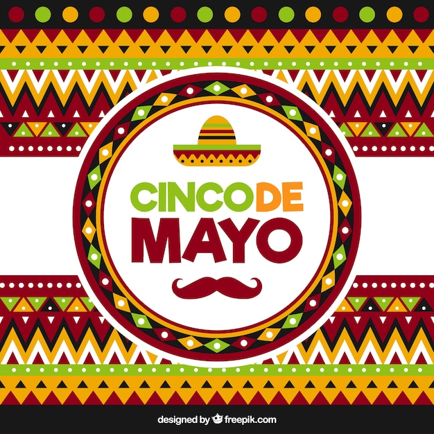 Geometric Background For Cinco De Mayo Vector | Free Download